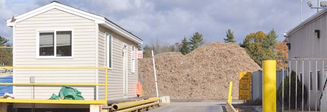 ReEnergy's Epping facility recovers wood and converts it into wood chips, which are used for biomass fuel